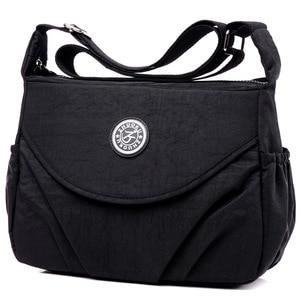 Image 4 - 2020 New Single  Zipper Shoulder & Crossbody Bags Nylon Waterproof Package Compartment  Womens Messenger Bag