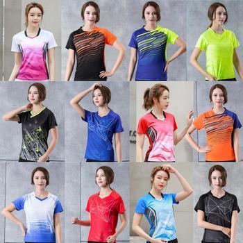 Женские рубашки для бадминтона 2020, спортивные рубашки для тенниса для девочек, женская футболка для настольного тенниса, комплект быстросо...