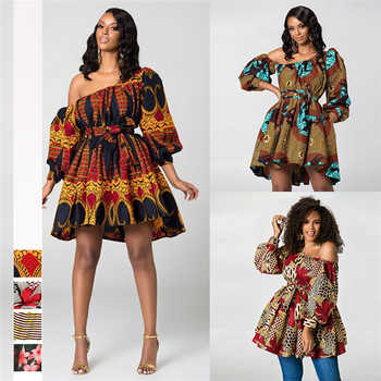 2019 New Fashion African Dresses for Women Summer Tilting Shoulder Two Wear Dashiki Africa Style Print Rich Bazin Dashiki Top - DISCOUNT ITEM  39% OFF All Category
