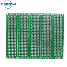 2x8 2*8cm Double Sided Prototype PCB Tin-plated General DIY Board Experiment Board Ring Hole Bread Board 2.54mm Fiberglass Board