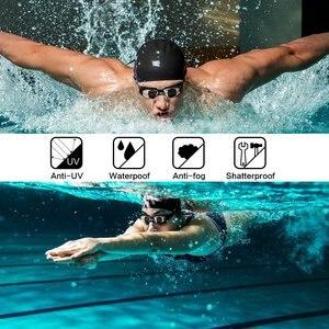 Image 5 - Профессиональные очки для плавания ming HD противотуманные 100% УФ Регулируемые очки с ремнем для плавания очки для взрослых водонепроницаемые очки по рецепту