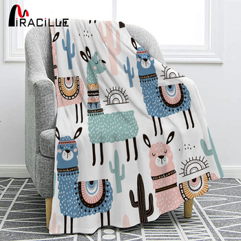 Miracille Soft Flannel blankets Alpaca For Kid Cartoon Blanket Throw Blanket Bedding Thick Warm On The Bed Sofa aibeile 2018 new high quality flannel baby blanket newborn super soft cartoon blankets 100 110 cm for beds thick warm kid