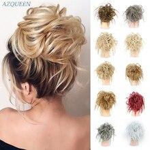 Грязный булочка резинки для волос, резинка для волос искусственные волосы синтетический Для женщин шиньон на голову эластичная повязка для...