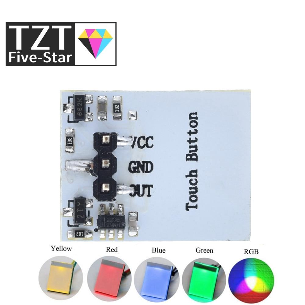 Зеленый синий и красный цвета и желтый Цвет RGB емкостный сенсорный модуль переключатель 2,7 до 6В модуль анти-помех крепкий серии HTTM