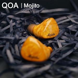 Image 2 - QOA Mojito 2 سينون + 4 نولز المحرك المتوازن الهجين السائقين في الأذن رصد سماعة HIFI DJ ياربود 0.78 مللي متر انفصال كابل