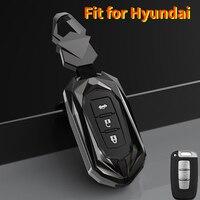 Liga de zinco carro remoto chave caso capa para hyundai solaris hb20 i30 veloster sr ix35 elantra acento para kia rio sportage k2 k3