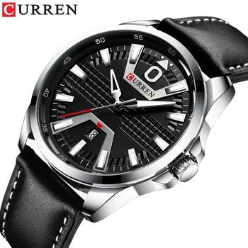 Curren 8379 Fashion Sports Watch Men's Waterproof Quartz Leather Watch