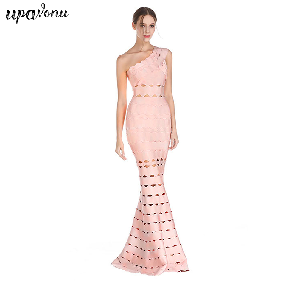 New Sleeveless Strapless Bandage Dress Wedding Banquet Party Sexy Fashion One Shoulder Elegant Dragon Dress