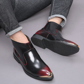 SexeMara Luxury Brand Leather Casual Driving Oxfords Shoes Men Loafers Italian Shoes Wedding Shoes Men Flats SY-MG-9912