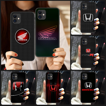 Honda Phone Case Cover Hull For iphone 5 5s se 2 6 6s 7 8 plus X XS XR 11 PRO MAX black coque silicone cell cover 3D shell soft image