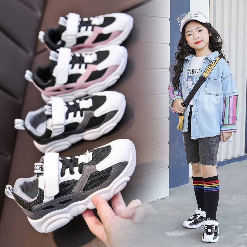 Kids Sneakers Toddler Baby Boys Girls Children Casual Sneakers Mesh Soft Running Letter Shoes Sapato Infantil