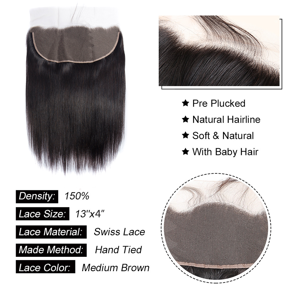 H4e948694874a4f3286f479539fc58ed26 Peruvian Straight Hair Bundle with closure 3 bundle human hair weave Virgo Hair lace frontal closure with bundles 4 pcs remy