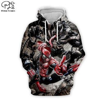 цена Superhero Venom Hoodies Mannen Vrouwen dragon ball Sweatshirts Cool Spider-man 3d Hoodie Hip Hop Hooded Streetwear Tops VE-022 онлайн в 2017 году