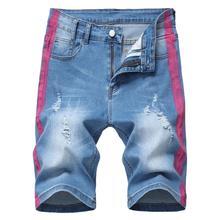 Cloudstyle Shorts Jeans Slim Fit Men Casual Male Denim Knee Length Biker Summer 2020 Black Streetwear