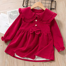 Платье для маленьких девочек; Новое зимнее вечернее платье с