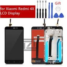 Xiaomi Redmi için 4X LCD ekran dokunmatik ekran paneli çerçeve meclisi ile IPS LCD ekran Digitizer Redmi için 4X onarım parçaları