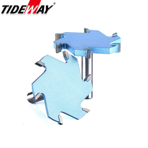Image 1 - Tideway 1/2 Shank 6 Flutes Groove Slotting Milling Cutter CNC Tool For Hard Wood Cutters T type Slot Woodworking Router Bit
