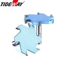 Tideway 1/2 Vỏ 6 Sáo Rãnh Làm Khe Dao Phay CNC Công Cụ Gỗ Cứng Cắt T Loại Khe Cắm Gỗ Router bit