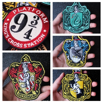 Nicediy Harry Movie Patches Iron On Clothes Embroidered For Clothing Applique Washable Badge DIY