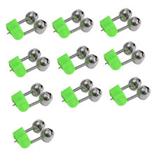 10Pcs Rod Tip Clamp Fishing Pole Fish Bite Lure Alarm Alert Twin Bell Ring Clip lovely design double bells spring plastic clip(China)