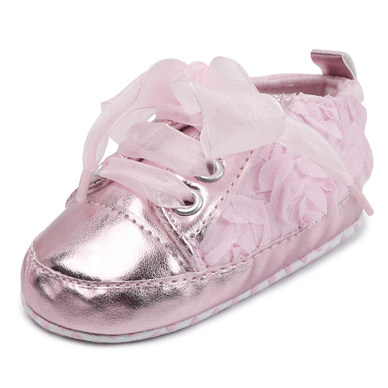 Newborn Infant Bling Lace Dot Baby Girls Shoes Party Present Toddler Soft Cotton Sole Casual Canvas Girl Crib Shoes Moccansins