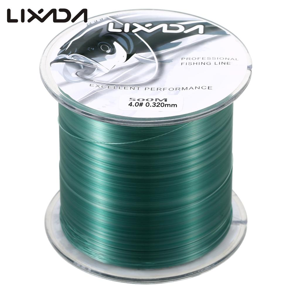 Lixada Fishing Line 500m 0.8 - 8.0 Nylon  Durable Monofilament Rock Sea Fishing Line Thread for Pesca