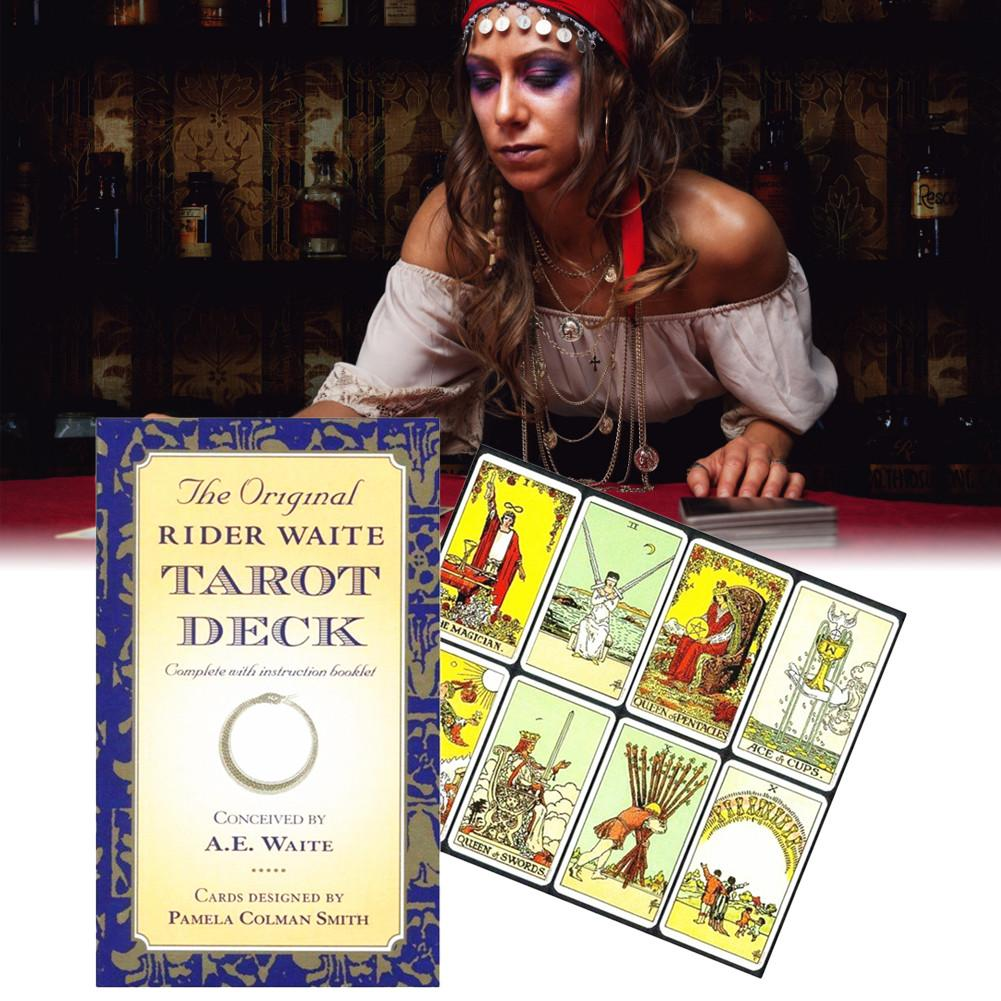 2020 New Full English Version Rider Wait Tarot Deck Divination Fate Playing Cards Board Game Spanish Divination Cards Game Board