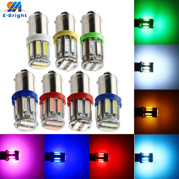 100X T11 12V BA9S 7014 10 SMD LED Bulbs Car Interior Side Door Tail Dashboard Instrument Indicator Reading Lights White Red Pink