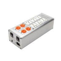 Extension Cocket EU UK US AU Universal Plug Socket Lightning Protection Power Filter Power Supply Socket With Voltage display