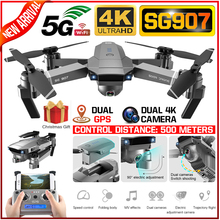 SG907 RC Drone 4K Full HD Dual Camera 5G WIFI GPS Follow Me Quadcopter Professional FPV RC Helicopter With Stabilizer 4K Drone