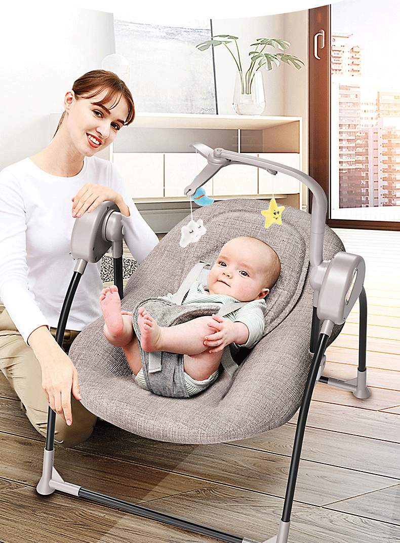 H4e960877572f4273a88e185475e3790fE Baby electric rocking chair cradle baby comfort recliner rocking chair baby supplies bed Russia free shipping