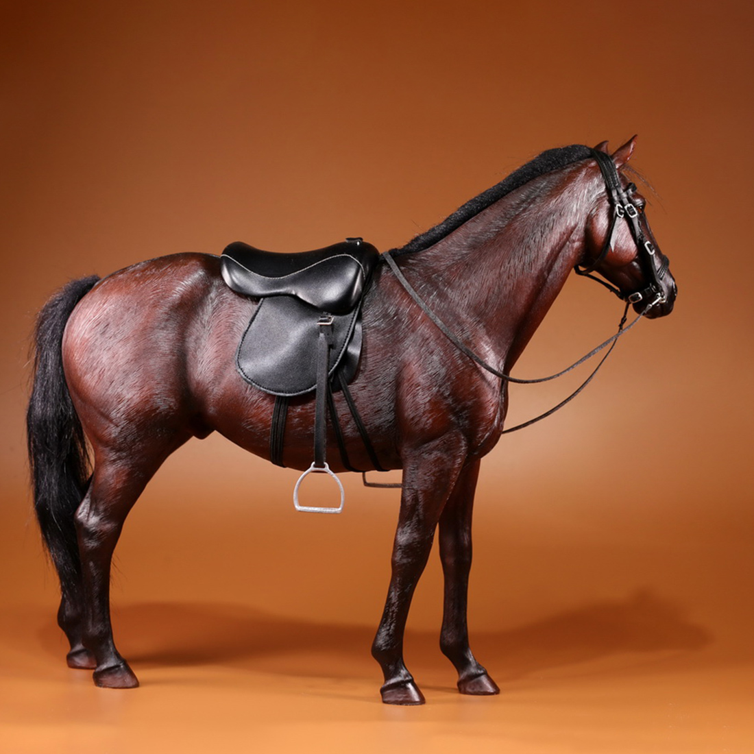 Surwish 33cm 1/6 Scale Germany Hannover Warm Blooded Model Horse Decoration Drop Shipping  - Grey White
