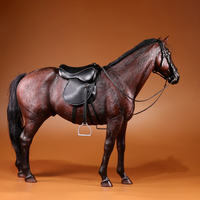 Surwish 33cm 1/6 Scale Germany Hannover Warm Blooded Model Horse Decoration Drop Shipping Grey White