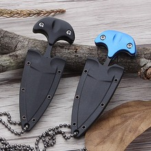 Multifunctional Mini Hanging Necklace  Stainless Steel Pocket Protable Outdoor Camping Knife Rescue Survival Tool Knives