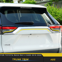 For Toyota Rav4 XA50 2019 2020 Car Tailgate Trunk Door Decoration Cover Trim Sticker Chrome Exterior Accessories
