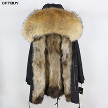 2020 Real Fur Coat Winter Jacket Women Long Parka Waterproof Big Natural Raccoon Fur Collar Hood Thick Warm Real Fox Fur Liner
