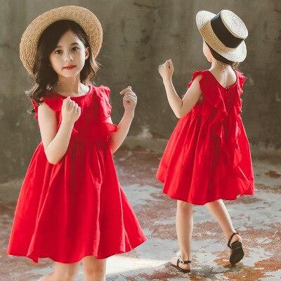 Red princess 2020 abiti estivi per ragazze 12 anni vestidos de ninas elegante costume di moda per adolescenti