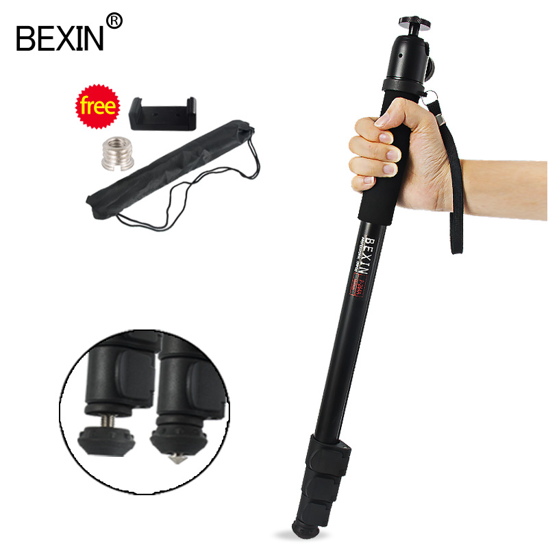 Professional Camera Monopod Walking Stick Aluminum 4 Section Adjustable Monopod for Camera with UNC 1//4 or 3//8 Convertible Screw for DSLR Camera Video Camcorders