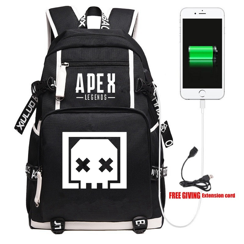 New Apex Legends Death Box Backpack Travel Shoulder Laptop Bags Cosplay Game Cartoon Kids Teens School Student Bags Bookbag