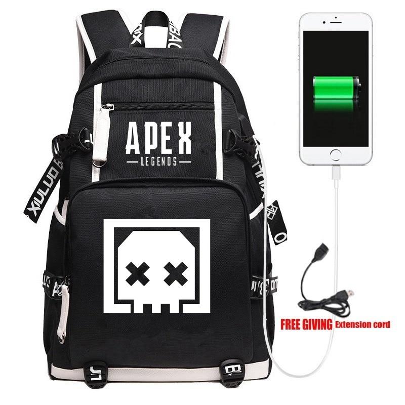 New Apex Legends Death Box Backpack Travel Shoulder Laptop Bags Cosplay Game Cartoon Kids Teens School Student Bags Bookbag