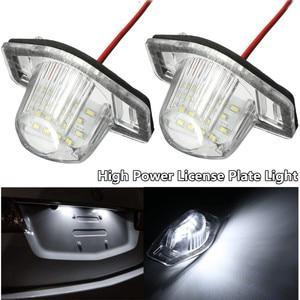 2pcs Error Free LED Car Number License Plate for Honda Crv Fit Jazz Crosstour Odyssey Stream Freed Logo Insight HRV FRV