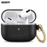 ESR Earphone Case for AirPods Pro Leather Soft Touch with Hook Up Shockproof Cover For AirPods 3 Pro Luxury AirPods Pro Case