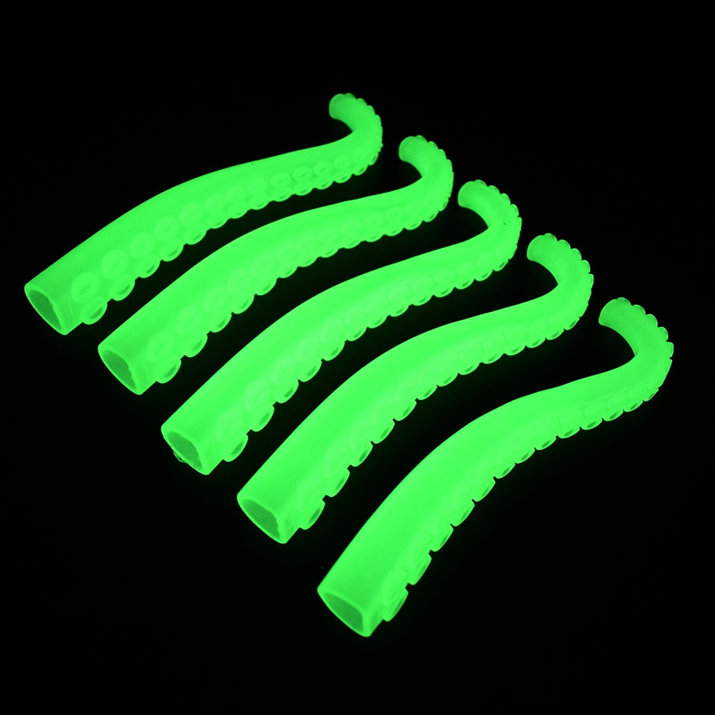 12 PCS Lifelike Environmental Glow In The Dark Octopus Tentacles Finger Toys Funny Toys For Kids Funny Toy