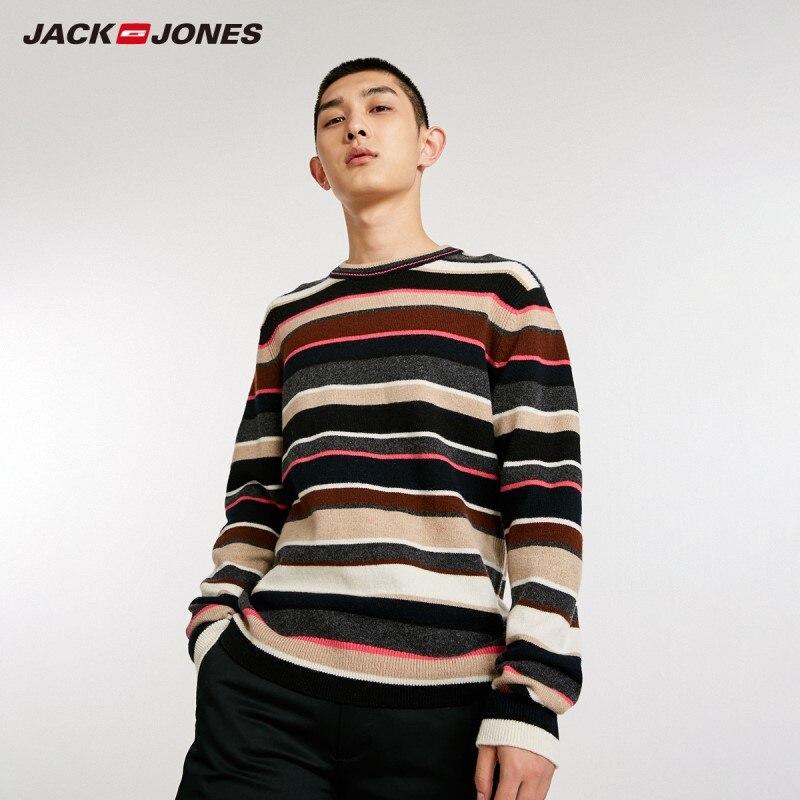 JackJones Men's Woolen Striped Sweater Pullover Top Menswear 218425515