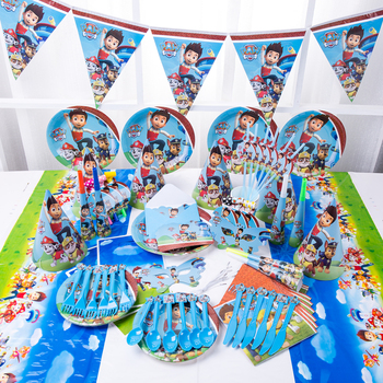 Новый дизайн «Щенячий патруль» для мальчиков, детские украшения для дня рождения, воздушный шар, одноразовая посуда для детского душа