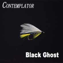 CONTEMPLATOR 5pcs 10# Black Ghost streamers fly fishing lures classic artificial bait sea/brown trout/salmon