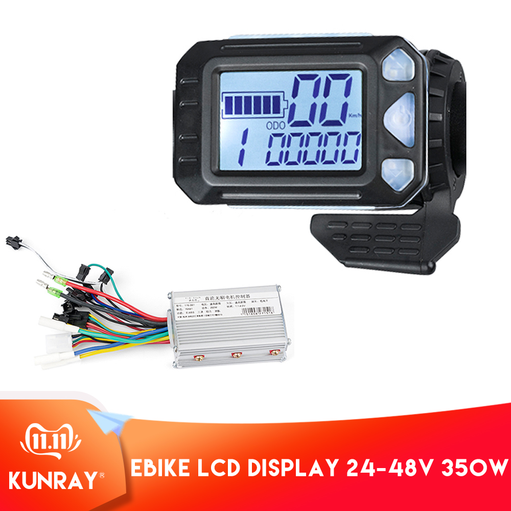 350W Ebike Controller Finger Throttle LCD Display For Electric Bike Electric Scooter Controller Brushless Motor Electric Bicycle