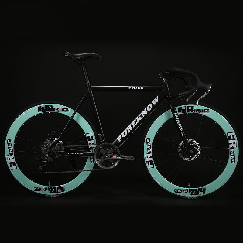 Fixed Gear Bicycle 27speed 60 Knife Double Disc Brakes Solid Tire For Students