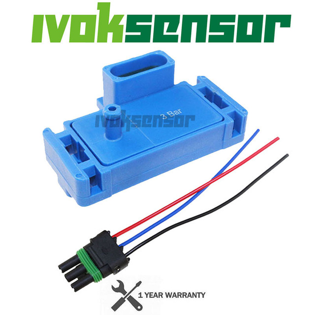 Promotion   NEW For GM STYLE 3BAR 3 BAR MAP Sensor For Electromotive Motec Megasquirt With Plug 12223861 16040749