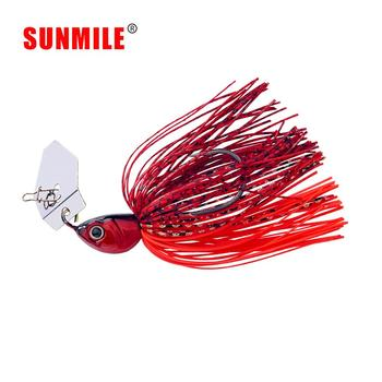 SUNMILE Fishing Chatterbait 16g Jig Hook SpinnerBaits Buzzbait With MUSTAD Hook for Bass Pike Tiger Muskie Metal Jig Lure